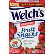 Welchs Strawberry Fruit Snacks, 0.9 Ounce - 10 count per pack -- 8 packs per case