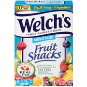 Welchs Mixed Fruit Fruit Snacks, 0.9 Ounce - 10 count per pack -- 8 packs per case