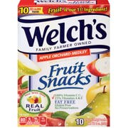 Welchs Apple Orchard Medley Fruit Snacks, 0.9 Ounce - 10 count per pack -- 8 packs per case