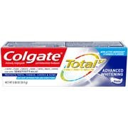 Colgate Total Advanced Whitening Toothpaste, 0.88 Ounce -- 24 per case.