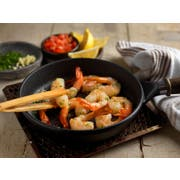 FPI Cooked Peel and Devein Tail On 21-25 Cooked White Shrimp, 2 Pound -- 5 per case.