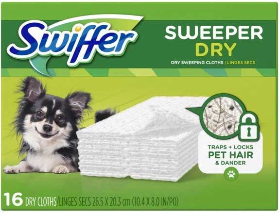 Swiffer Max Unscented Dry Sweeping Cloth, 16 count per pack -- 6 per case.