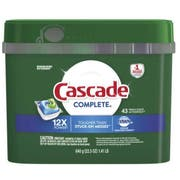 Cascade Complete Action Pacs Liquid and Powder Dishwasher Detergent, 1.41 Pound Pouch -- 6 per case.