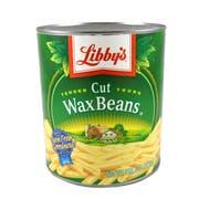 Libby Fancy Cut Wax Bean - no. 10 can, 6 cans per case