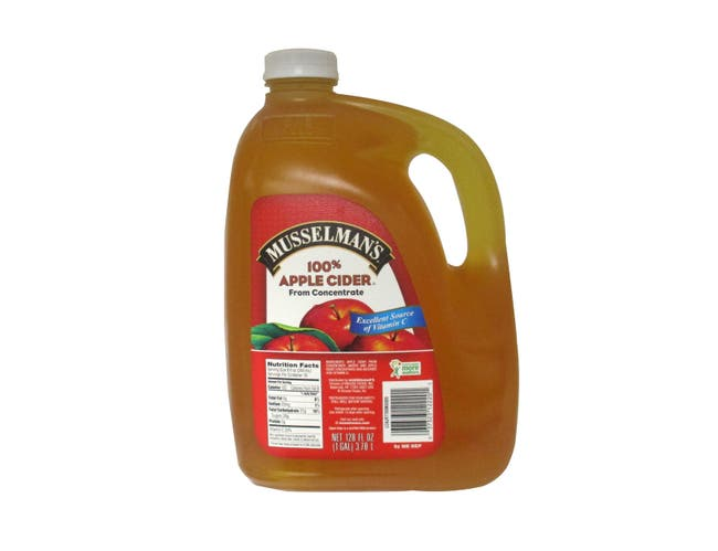 Knouse Foods Musselmans Cider Apple Juice in 128 Ounce Plastic -- 4 per case.