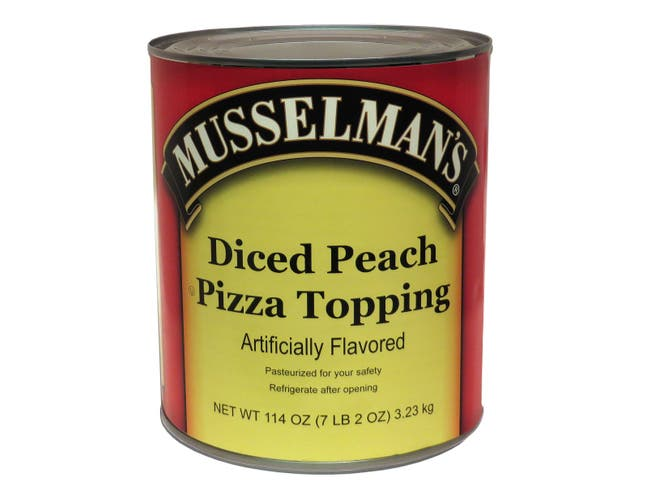 Knouse Foods Musselmans Assorted Pizza Topping, 114 Ounce -- 6 per case.