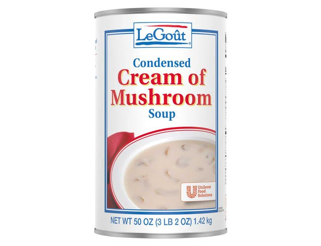 LeGout Cream of Mushroom Condensed Canned Soup, 50 ounce -- 12 per case
