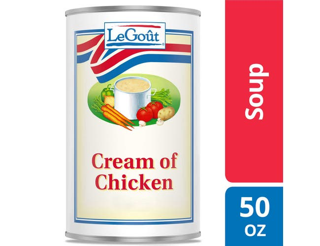 LeGout Cream of Chicken Condensed Canned Soup, 50 ounce -- 12 per case