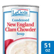 LeGout New England Clam Chowder Condensed Canned Soup, 51 ounce -- 12 per case