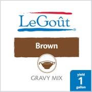 LeGout Brown Instant Gravy Mix, 13.29 ounce -- 8 per case