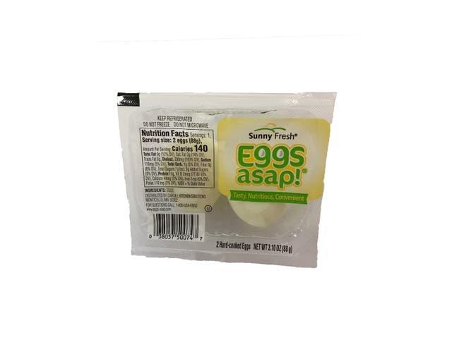 Sunny Fresh ASAP Hard Boiled Eggs, 2 count per pack -- 16 per case.