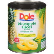 Dole Pineapple Slices Choice In Juice, 107 Ounce -- 6 per case.