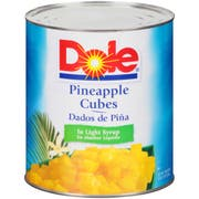 Dole Pineapple Cubes In Light Syrup, 106 Ounce -- 6 per case.