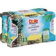 Pineapple Juice 48 Per Case, 6 Ounce Each