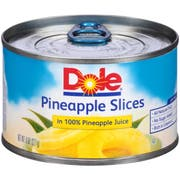 Dole Sliced Pineapple in Juice, 8 Ounce -- 12 per case.