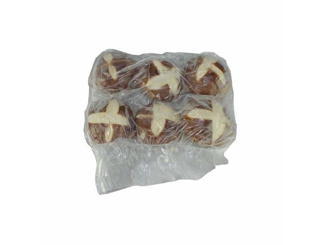 Maple Leaf Bakery Round Sliced Pretzel Bun -- 72 per case.