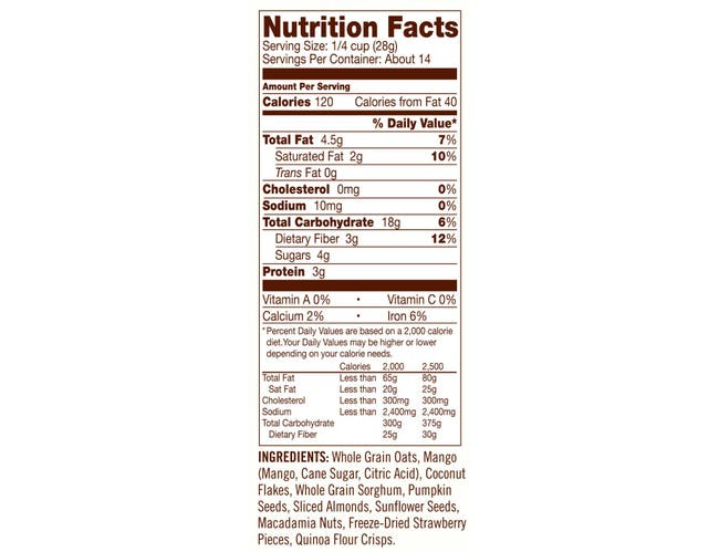 Bobs Red Mill Gluten Free Tropical Muesli, 14 Ounce -- 4 per case.