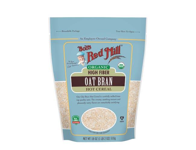 Bobs Red Mill Organic Oat Bran, 18 Ounce -- 4 per case.