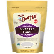 Bobs Red Mill Stone Ground White Rice Flour, 24 Ounce Pouch -- 4 per case