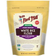 Bobs Red Mill Organic White Rice Flour, 24 Ounce Pouch -- 4 per case