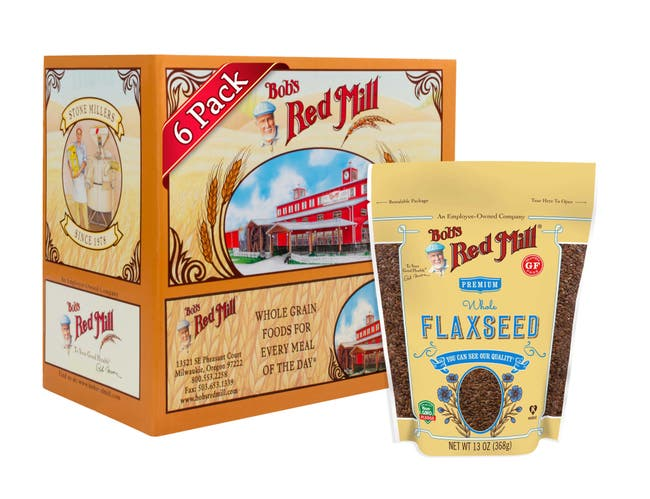 Bobs Red Mill Brown Flaxseeds, 13 Ounce -- 6 per case.