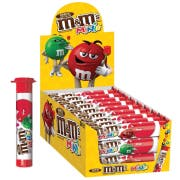 M and Ms Minis Valentines Milk Chocolate Candy - Mega Tube, 1.77 Ounce -- 72 per case
