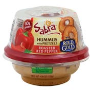 Sabra To Go Roasted Red Pepper Hummus with Pretzel Crisps, 3.5 Ounce -- 12 per case.