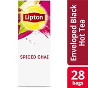 Lipton Spiced Chai Enveloped Hot Tea Bags, 28 count -- 6 per case