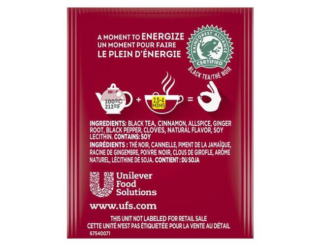 Lipton Spiced Chai Enveloped Hot Tea Bags, 28 count -- 6 per case