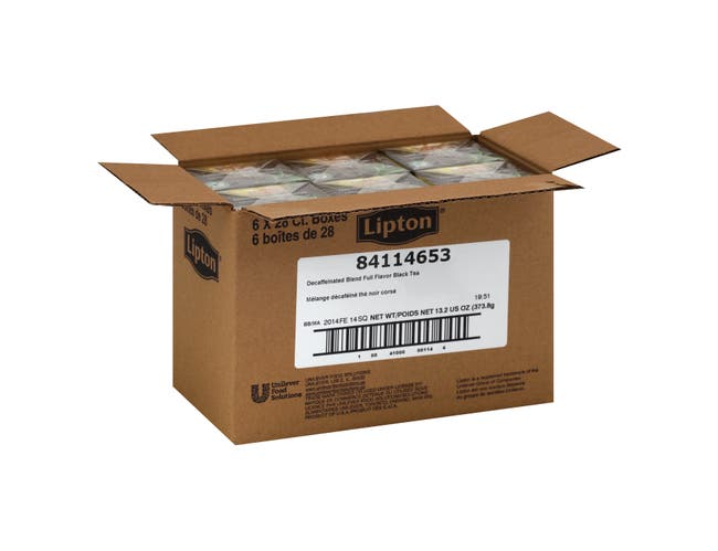 Lipton Decaffeinated Black Enveloped Hot Tea Bags, 28 count -- 6 per case