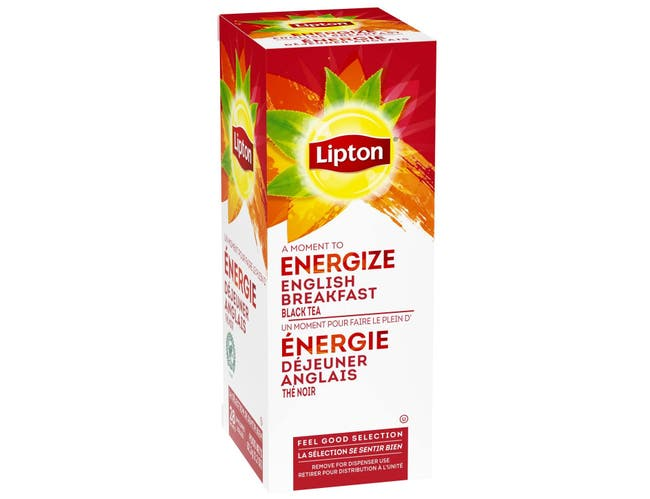 Lipton English Breakfast Enveloped Hot Tea Bags, 28 count -- 6 per case