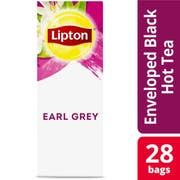Lipton Earl Grey Enveloped Hot Tea Bags, 28 count -- 6 per case