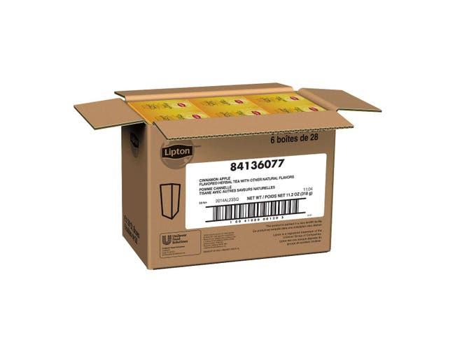 Lipton Cinnamon Apple Enveloped Hot Tea Bags, 28 count -- 6 per case