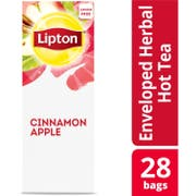 Lipton Cinnamon Apple Enveloped Hot Tea Bags, 28 count -- 6 per case