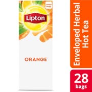 Lipton Orange Enveloped Hot Tea Bags, 28 count -- 6 per case