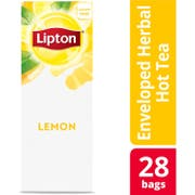 Lipton Lemon Enveloped Hot Tea Bags, 28 count -- 6 per case