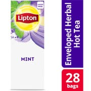 Lipton Mint Enveloped Hot Tea Bags, 28 count -- 6 per case