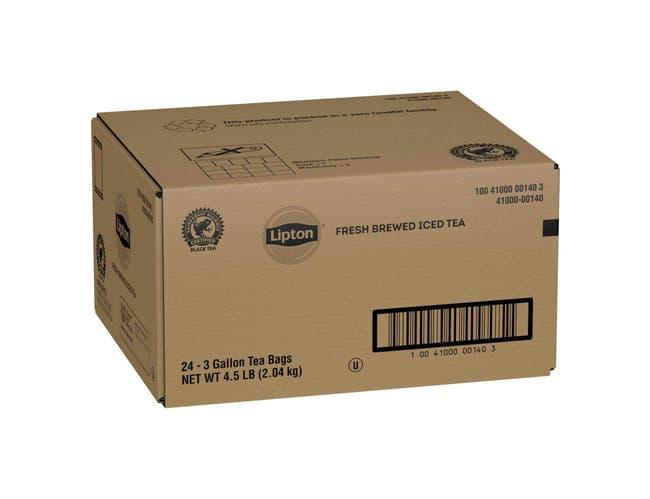 Lipton Black Iced Tea Bags Unsweetened, 3 gallon -- 24 per case