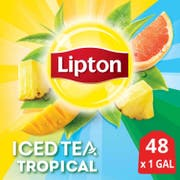 Lipton Tropical Unsweetened Iced Tea Bags, 1 gallon Pack of 24 -- 2 per case