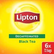Lipton Decaffeinated Black Enveloped Hot Tea Bags, 72 count -- 6 per case