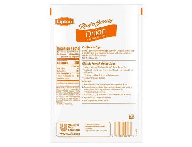 Lipton Soup Mix Onion, 5.7 ounce -- 12 per case