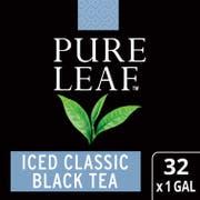 Pure Leaf Black Iced Tea Bags Unsweetened, 1 gallon -- 32 per case