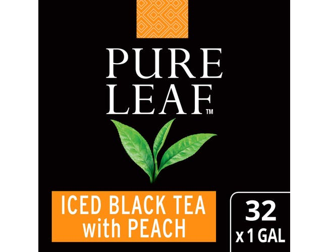 Pure Leaf Black with Peach Iced Tea Bags Unsweetened, 1 gallon -- 32 per case