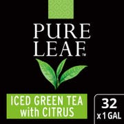 Pure Leaf Green with Citrus Iced Tea Bags Unsweetened, 1 gallon -- 32 per case