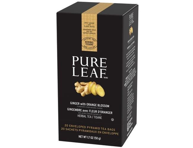 Pure Leaf Ginger with Orange Blossom Enveloped Hot Tea Bags, 20 count -- 6 per case