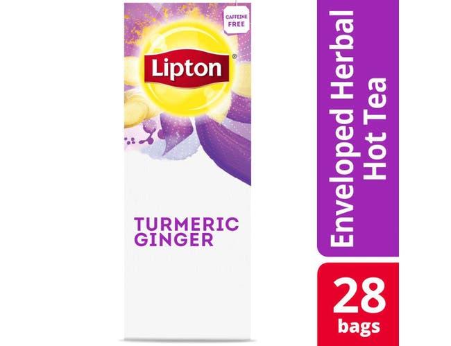 Lipton Turmeric Ginger Enveloped Hot Tea Bags, 28 count -- 6 per case