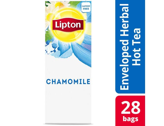 Lipton Chamomile Enveloped Hot Tea Bags, 28 count -- 6 per case