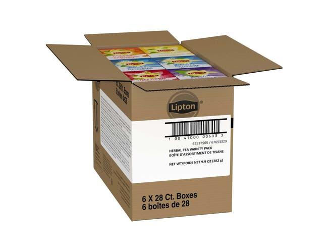 Lipton Herbal Variety Pack Enveloped Hot Tea Bags, 28 count -- 6 per case