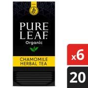 Pure Leaf Organic Chamomile Herbal Hot Tea Bags, 20 count per pack -- 6 per case