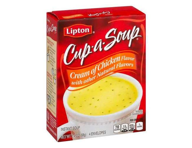 Lipton Savoury Cup A Soup Cream of Chicken Soup, 2.4 Ounce -- 12 per case.